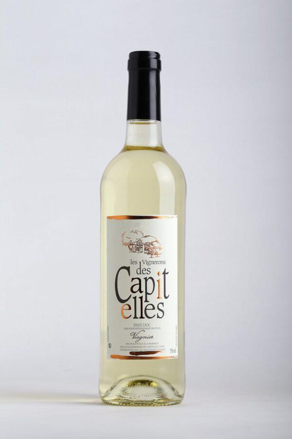 bouteille de vin viognier blanc les Vignerons des Capitelles