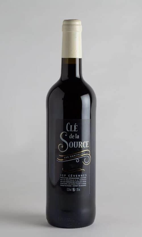 bouteille de vin Clé de la source Rouge