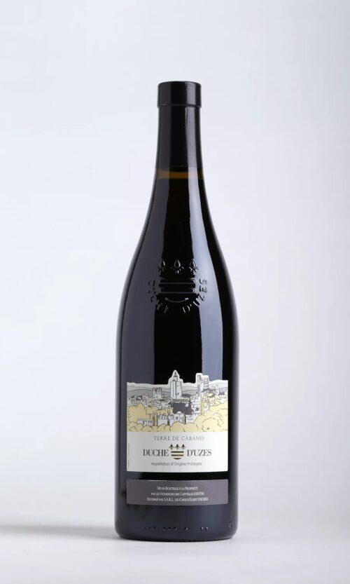 bouteille de vin cabanis rouge aoc Uzès