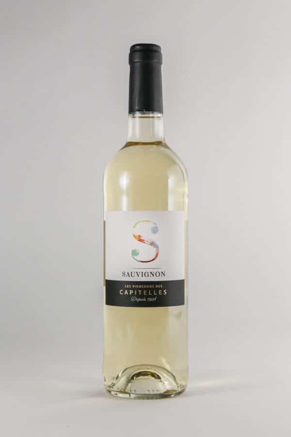 bouteille de vin sauvignon les Vignerons des Capitelles