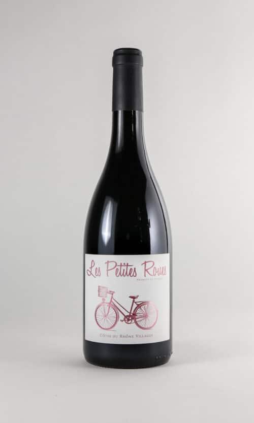 bouteille de vin les petites roues rosé
